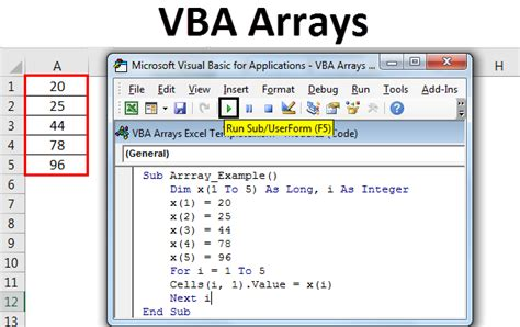 VBA Arrays | Types of Arrays in VBA and How to Use them?