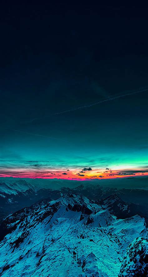 Beautiful Sunset Mountain - The iPhone Wallpapers