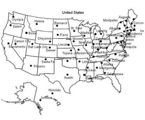 Midwest States And Capitals Map Quiz   Printable Map