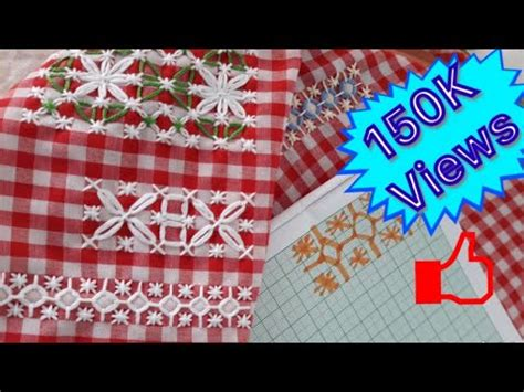 How to do chicken scratch embroidery | Gingham embroidery