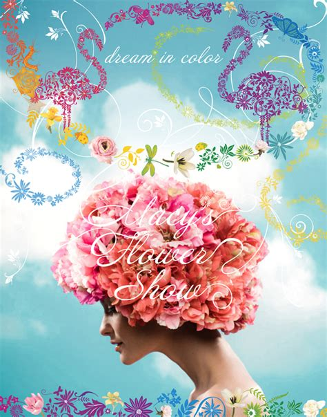 Macy's Department Store Flower Show Poster New York