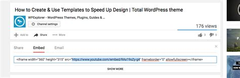 How to get the Embed URL/Link of a Youtube Video - Total