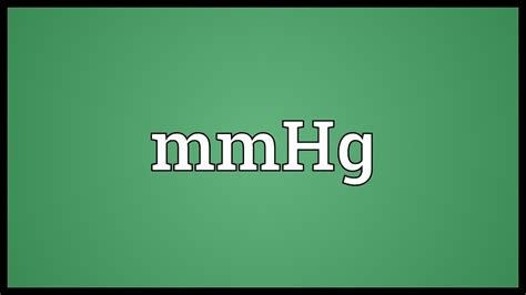 MmHg Meaning - YouTube