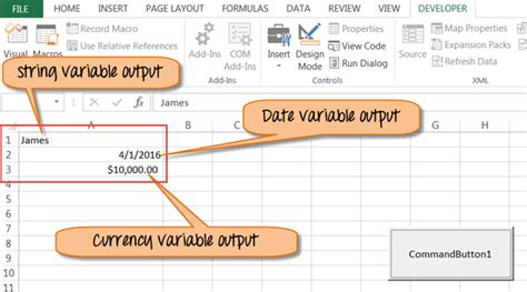 Excel VBA Variables, Data Types & Constant