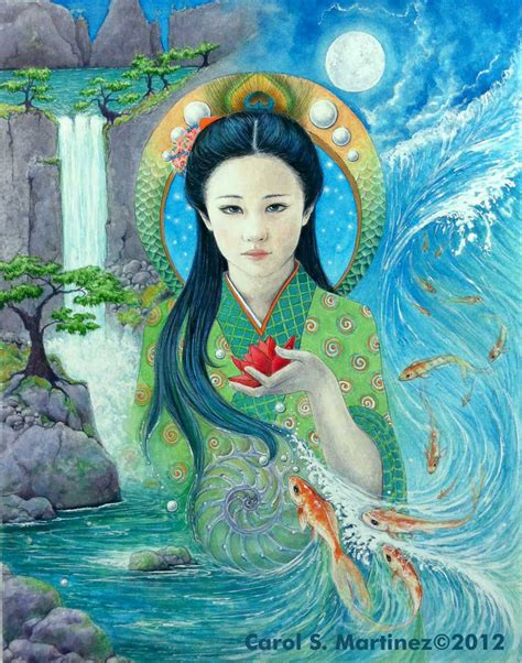 Quan Yin, Goddess of Compassion, Watercolor on paper